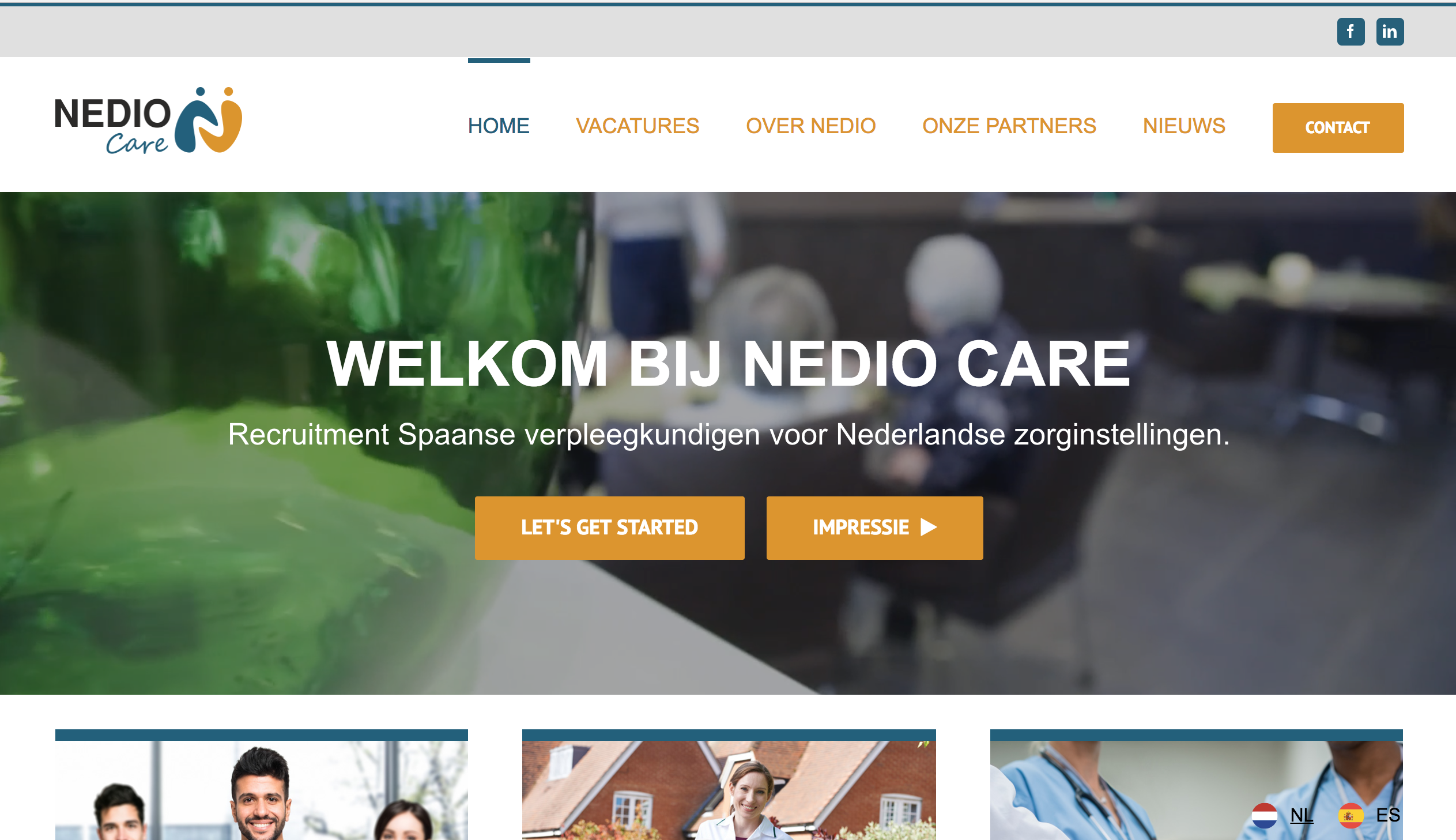 Nieuwe Website NedioCare Tilburg gemaakt door Q13 Webdesign