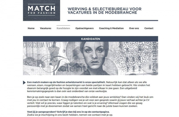 Q13 » Nieuwe WordPress website Match for fashion