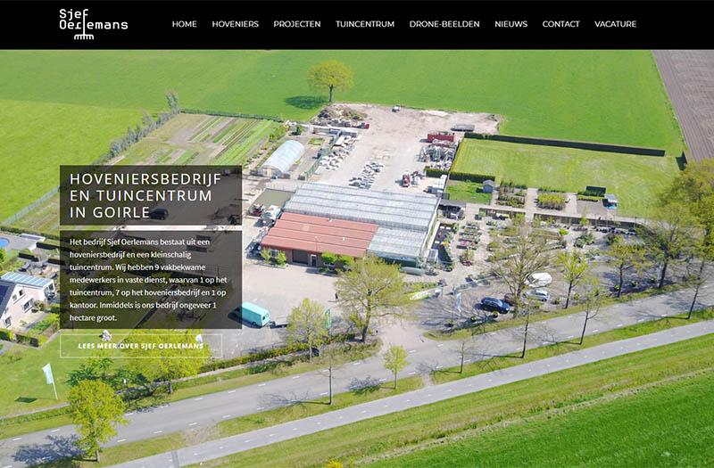 Q13 » Nieuwe website Hoveniersbedrijf en Tuincentrum Sjef Oerlemans B.V.